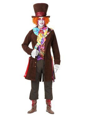 Adult's Colorful Mad Hatter Costume with Pants