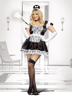 Maid For You Curvy Women's Costume