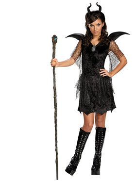 Maleficent Black Gown Tween/Teen Deluxe Child Costume