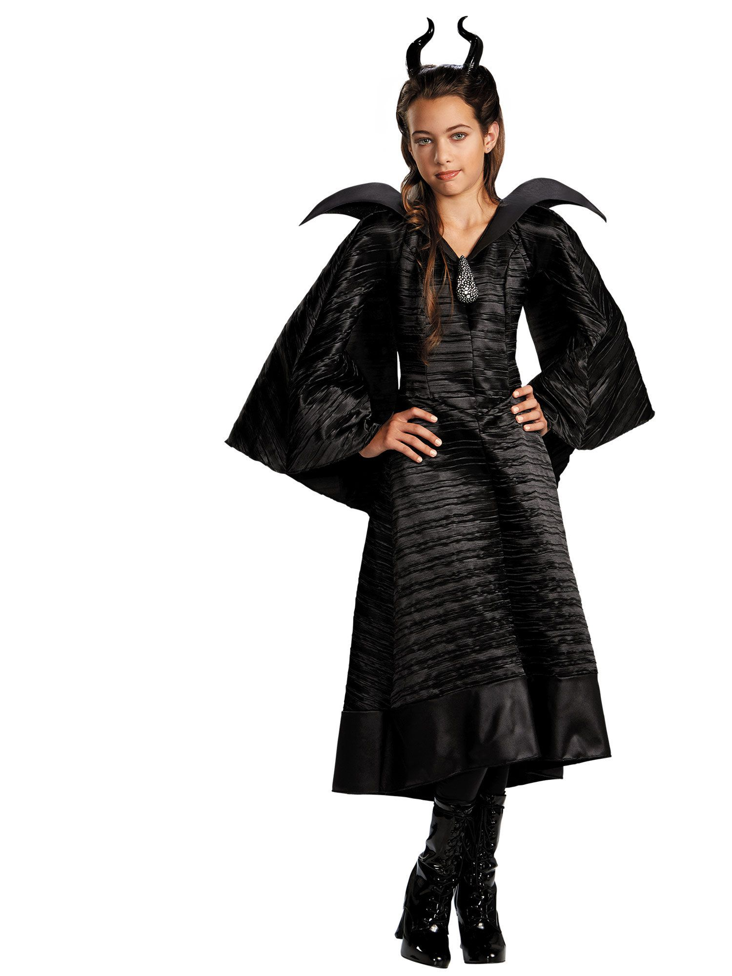 Maleficent Christening Black Gown Deluxe Child Costume