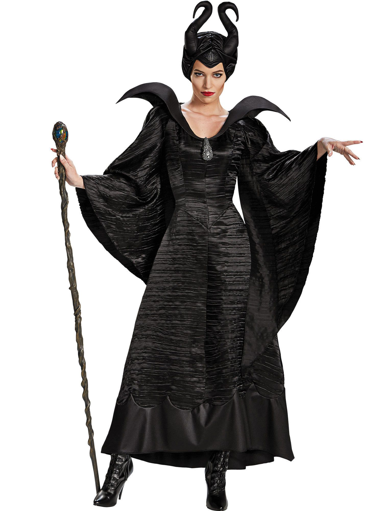 Maleficent Christening Black Gown Deluxe Costume Adult