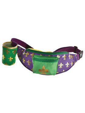 Mardi Gras Fanny Pack Drink Holder