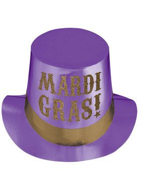 Mardi Gras Foil Party Hat For Adults