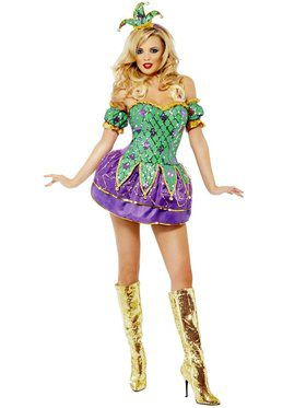Mardi Gras Harlequin Shine with Sequins Costume