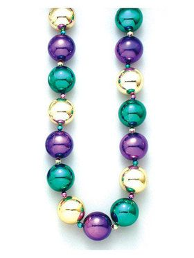 Mardi Gras Jumbo Ball Beads