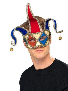 Mardi Gras Musical Jester Mask