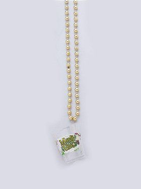 Mardi Gras Party Shot Glass Necklace