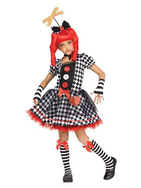 Delightful Girls Marionette Doll Costume