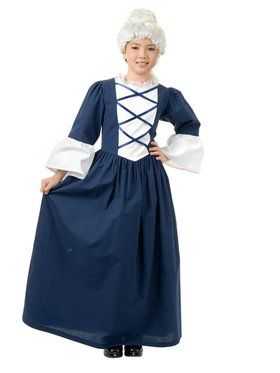 Girl's Classic Martha Washington Costume
