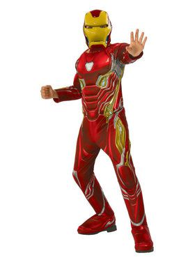 Marvel Avengers Infinity War Iron Man Deluxe Boys Costume