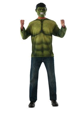 Marvel: Avengers: Infinity War Hulk Long Sleeve Top for Men