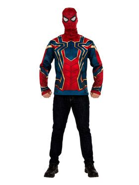 Marvel: Avengers: Infinity War Iron Spider Man Long Sleeve Top for Men