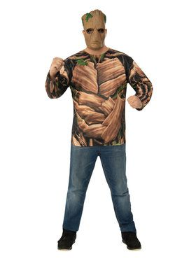 Marvel: Avengers: Infinity War Mens Teen Groot Long Sleeve Top