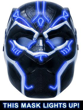 Marvel: Black Panther Movie Black Panther Lightup Child Battle Mask