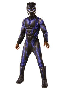 Marvel: Black Panther Movie Boys Deluxe Black Panther Battle Suit Costume