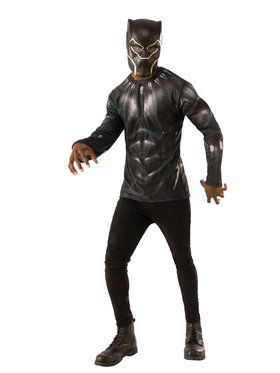 Marvel: Black Panther Movie Mens Black Panther Costume Top
