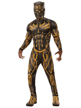 Marvel: Black Panther Movie Mens Deluxe Erik Killmonger Battle Suit Costume