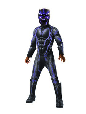 Marvel: Black Panther Movie Super Deluxe Boys Light Up Black Panther Costume