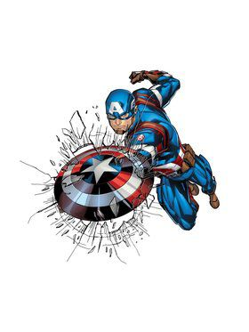 Captain America Window Stickers - Marvel Comics