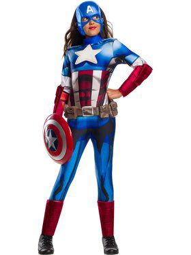 Marvel Universe Deluxe Captain America Costume for Kids
