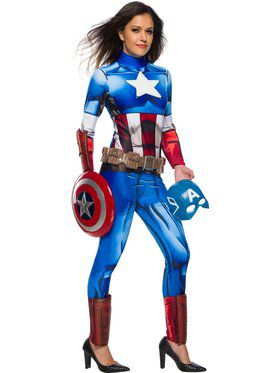 Marvel Universe Captain America Costume for Women
