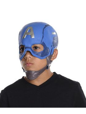 Marvel's Captain America: Civil War - Captain America Boys Full Vinyl Mask