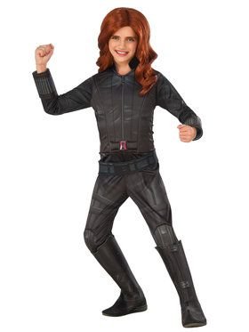 Marvel's Captain America: Civil War - Deluxe Black Widow Kids Costume