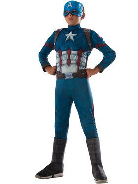 Marvel's Captain America: Civil War - Deluxe Muscle Chest Captain America Kids Costume