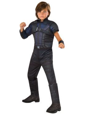 Marvel's Captain America: Civil War - Deluxe Muscle Chest Hawkeye Boy's Costume
