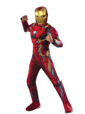 Marvel's Captain America: Civil War - Deluxe Muscle Chest Iron Man Boy's Costume