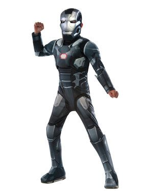 Marvel's Captain America: Civil War - Deluxe Muscle Chest War Machine Boy's Costume