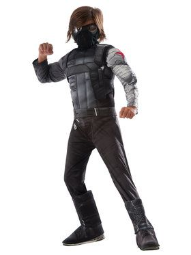 Marvel's Captain America: Civil War - Deluxe Muscle Chest Winter Soldier Boy's Costume