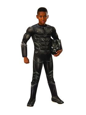 Marvel's Captain America: Civil War Black Panther Deluxe Muscle Chest Costume For Children