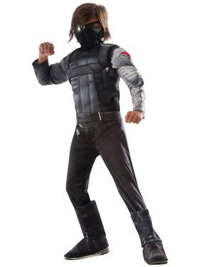 Marvel's Captain America: Civil War Winter Soldier Deluxe Muscle Chest Small Child Costume