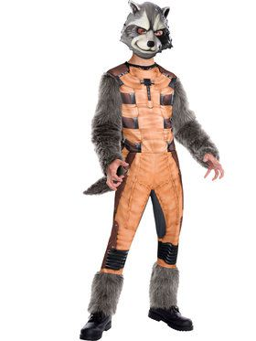 Marvel's Guardians of the Galaxy Deluxe Rocket Raccoon Boys Costume