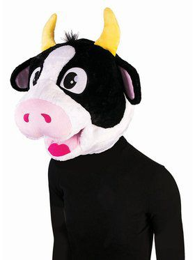 Mascot Adult Mask Cow