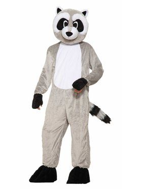 Mascot - Rickey Raccoon Adult Costume