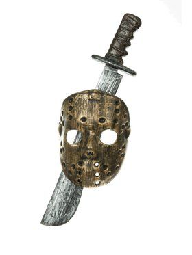Adult's Horror Movie Mask and Machete
