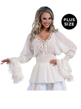 Medieval Lady Blouse Plus Size Costume