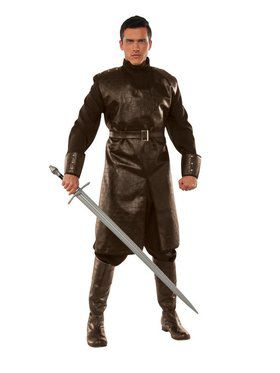 Medieval Fighter Men's Brown Costume