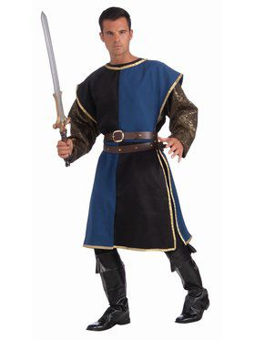 Medieval Tabard Adult Blue Black