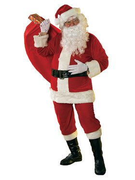 Mens 10 Piece Santa Suit Set