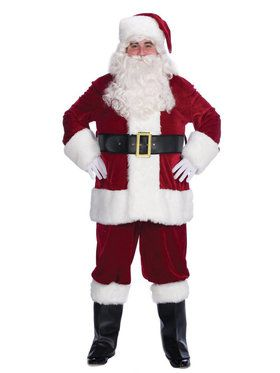 Mens Piece Velvet Complete Santa Suit Set