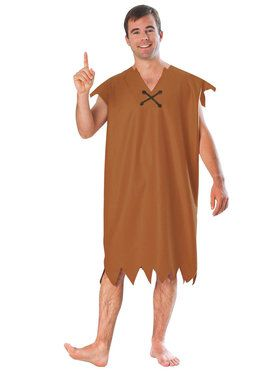 Barney Rubble Costume for Adults