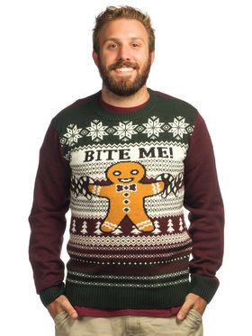 Men's Bite Me Ugly Holiday Sweater