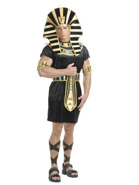 Mens Black and Gold King Tut Costume