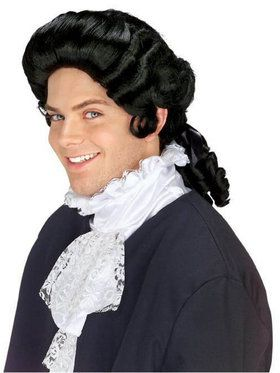 Adult Men Cosplay Colonial Black Wig