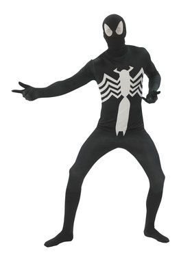 Mens Black Spiderman Second Skin Costume