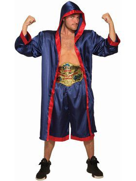 Men's Adult Blue Boxer Costume