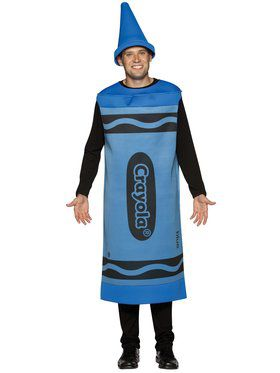 Mens Blue Crayola Crayon Costume